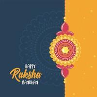 raksha bandhan, bracelet of love brothers and sisters indian festival banner vector