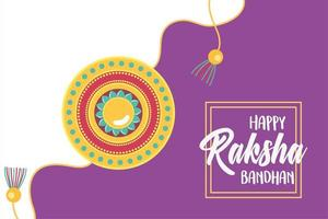 raksha bandhan, traditional bracelet of love brothers and sisters indian festival vector