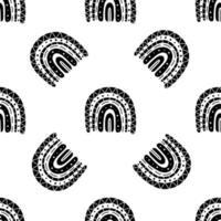 black rainbow seamless pattern vector