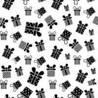 Gift box seamless pattern. Present pattern. Vector illustration. Design for Christmas, New Year, holidays