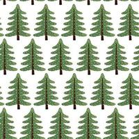 Vector colorful seamless background with Christmas tree. Modern illustration. Can be used for wallpaper, pattern fills, web page, surface textures, textile print, wrapping paper.
