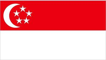 Singapore flag in cartoon style isolated on white background vector
