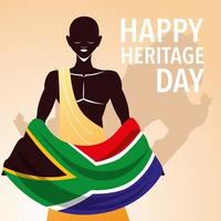 happy heritage day, Africans celebrate their culture and the diversity of their beliefs and traditions vector