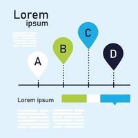 a b c d chart infographic vector design
