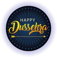 traditional arrow for festival happy Dussehra on blue background vector
