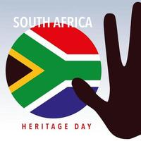 flag South Africa, happy South Africa heritage day vector