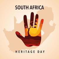 South Africa heritage day, poster vector
