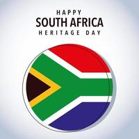 flag South Africa with happy South Africa heritage day vector