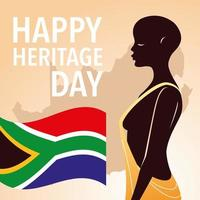 happy heritage day, Africans celebrate their culture and the diversity of their beliefs vector