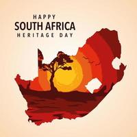 happy South Africa heritage day poster vector