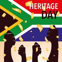flag of South Africa, heritage day vector
