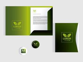folder, corporate identity template over white background vector