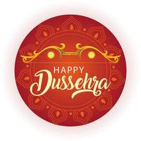traditional bow and arrow for festival happy Dussehra on orange background vector