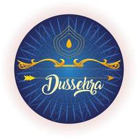 traditional bow and arrow for festival happy Dussehra on blue background vector