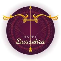 traditional bow and arrow for festival happy Dussehra on purple background vector