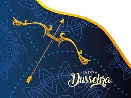template for celebration happy Dussehra vector
