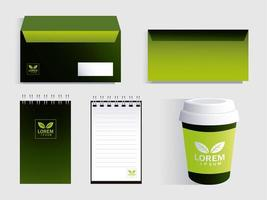 corporate branding identity mockup on white background vector
