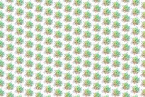 Floral seamless pattern, split-leaf Philodendron and palm leaves background, line art ink drawing vector