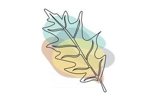 Abstract line Tropical Leaf in lines and arts background Minimal and natural wall art. line art drawing with abstract shape. different shapes for wall decoration, postcard or brochure cover design vector