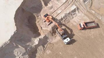 People Working in a Soil Quarry video