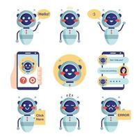 Chatbot Service Collection Set vector