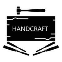 Handcraft service sign icon vector