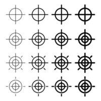 Rotation symbol icon set vector