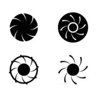 Rotation sign icon vector