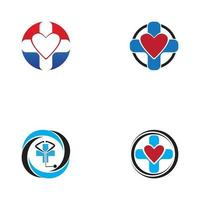 Hospital icon and symbol logo design template vector