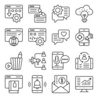 Pack of Seo Linear Icons vector