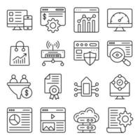 Pack of Money Management Linear Icons vector