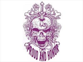 proud and honor skull icon vector