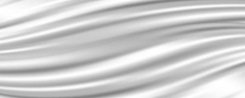 Abstract white fabric silk texture. Milk waves for background vector