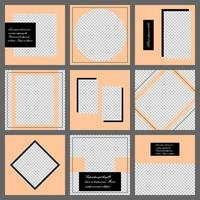 Social media banner template. Editable mockup for personal blog, layout for promotion vector
