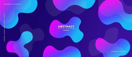 Blue and Magenta 3D Fluid Wave Shape Abstract Liquid Background. vector