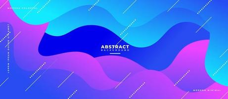 3D Fluid Wave Blue and Magenta Shape Abstract Liquid Background. vector