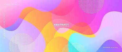 Multicolor 3D Liquid Wave Shape Abstract Liquid Background. vector