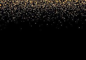 Gold Falling Glitter Celebration Party Background vector