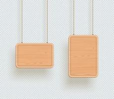 Wooden Sign Plain Empty 3d Hanging Board Frames vector