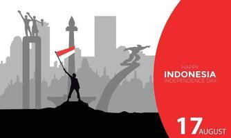Indonesia Independence Day Indonesia Landmark Landscape Vector