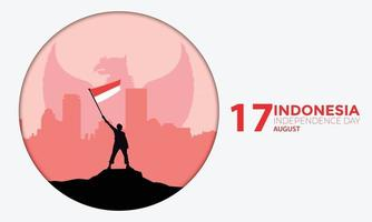 Indonesia Independence Day Circle Vector