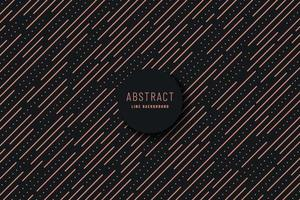 Abstract minimal design diagonal stripe and Lines dot pattern. Simple black and copper color texture. Design element for prints, web, template and textile pattern. Vector illustration