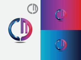letra m, letra c, cm, mc, m, c logotipo de letra abstracta vector