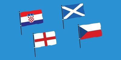 Euro 2020 Group D vector