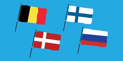Euro 2020 Group B vector