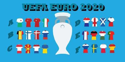UEFA Euro 2020 Tournament vector