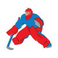 Jugador de portero de hockey abstracto sobre un fondo blanco. ilustración vectorial vector