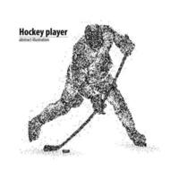 Abstract hockey player of the black circles. Vector illustration.