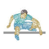 atleta abstracto saltando por encima de la barrera. ilustración vectorial. vector
