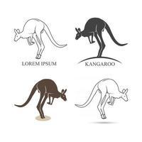 Set of emblems, icons and labels kenguru. Vector illustration.